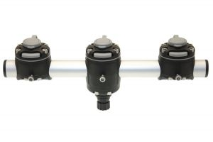 Round rail with three mounts FASTen (350 mm, one fastening point)